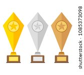 winner trophy gold cups flat... | Shutterstock .eps vector #1085373098