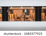 speed train's cabin of nankai... | Shutterstock . vector #1085377925