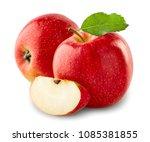apples with slice   Shutterstock . vector #1085381855
