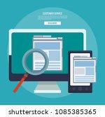 online customer service and... | Shutterstock .eps vector #1085385365