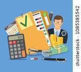 auditing  tax  business... | Shutterstock .eps vector #1085385542