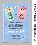 little man or little miss ... | Shutterstock .eps vector #1085389685