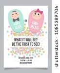 little man or little miss ... | Shutterstock .eps vector #1085389706
