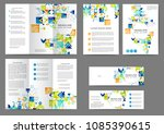 set of color abstract brochure... | Shutterstock .eps vector #1085390615