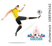 illustration of football... | Shutterstock .eps vector #1085396162