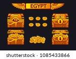 vector egypt antique treasure...   Shutterstock .eps vector #1085433866