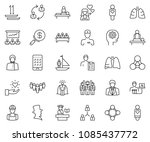 thin line icon set  ... | Shutterstock .eps vector #1085437772