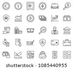 thin line icon set  ... | Shutterstock .eps vector #1085440955