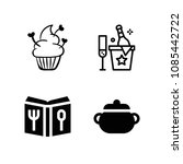 filled food icon set such as...   Shutterstock .eps vector #1085442722