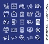 outline marketing icon set such ... | Shutterstock .eps vector #1085442932