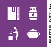 filled cook icon set such as...   Shutterstock .eps vector #1085447522