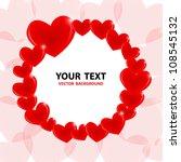 heart vector background. vector ...   Shutterstock .eps vector #108545132