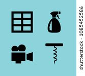 filled tool icon set such as... | Shutterstock .eps vector #1085452586