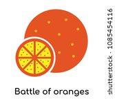 battle of oranges icon isolated ... | Shutterstock .eps vector #1085454116