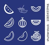 outline melon icon set such as... | Shutterstock .eps vector #1085455946