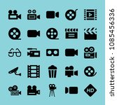 filled film icon set such as... | Shutterstock .eps vector #1085456336