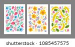 collection of cards  posters or ... | Shutterstock .eps vector #1085457575