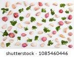 garlic and onion spice... | Shutterstock . vector #1085460446