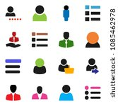 solid vector icon set   manager ...