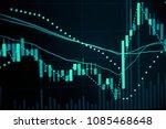 stock market data on digital... | Shutterstock . vector #1085468648