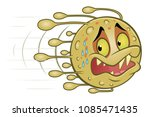 scared escaping virus | Shutterstock .eps vector #1085471435