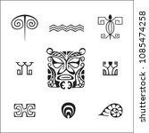 vector black monochrome ink... | Shutterstock .eps vector #1085474258