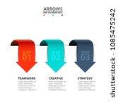 vector arrows for infographic.... | Shutterstock .eps vector #1085475242