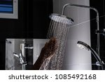 close up of water flowing from...   Shutterstock . vector #1085492168
