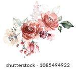 watercolor flowers. floral... | Shutterstock . vector #1085494922