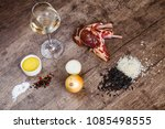 ingredients for the preparation ... | Shutterstock . vector #1085498555