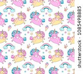 beautiful seamless pattern with ... | Shutterstock .eps vector #1085498885
