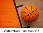 basketball ball laying on... | Shutterstock . vector #1085502515