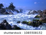 natural waterfall in the mekong ... | Shutterstock . vector #1085508152