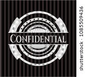 confidential silver badge or... | Shutterstock .eps vector #1085509436