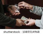 hand of addict man with money... | Shutterstock . vector #1085514968
