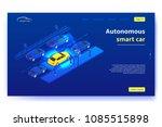 concept banner with autonomous... | Shutterstock .eps vector #1085515898