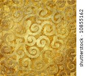 golden background with patterns - stock photo