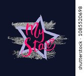 t shirt star print is for... | Shutterstock .eps vector #1085520698
