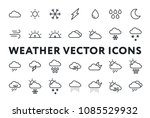 weather forecast meteorology...   Shutterstock .eps vector #1085529932