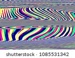 glitch universe background. old ... | Shutterstock . vector #1085531342