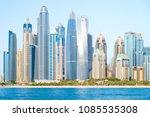 dubai marina in a summer day ... | Shutterstock . vector #1085535308