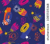colorful abstract funky pattern. | Shutterstock .eps vector #1085535368