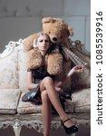 young spoiled aristocrat...   Shutterstock . vector #1085539916