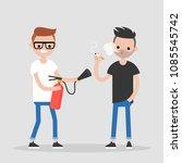 fighting bad habits. one... | Shutterstock .eps vector #1085545742