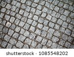 top view of an old cobblestone... | Shutterstock . vector #1085548202