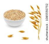 vector 3d realistic oat ears ... | Shutterstock .eps vector #1085550752
