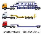 vector semi trucks set isolated ...   Shutterstock .eps vector #1085552012