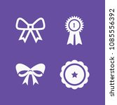 filled set of 4 ribbon icons... | Shutterstock .eps vector #1085556392
