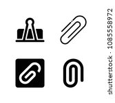 filled set of 4 clip icons such ... | Shutterstock .eps vector #1085558972