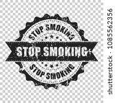 stop smoking scratch grunge... | Shutterstock .eps vector #1085562356